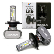 Kit Lampada Ultra Led Titanium Shocklight H4 10000 Lumens