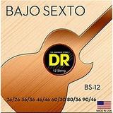 Dr Bs-12 Bajo Sexto Cuerda Round Core Con Extremos De Bucle