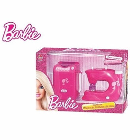 Kit Utilidades Barbie Maquina De Costura E Lavar Lider 2181