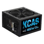 Fonte P/ Pc Atx 400w Kcas Black - Aerocool + Nf + Garantia