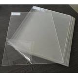 Chapa Placa Acrílica Cristal Cast 100x50cm Espessura 2mm