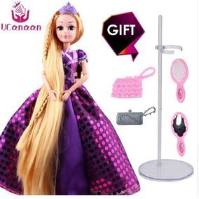Princesa Boneca Barbie Rapunzel Cabelos Longos+acessórios