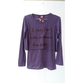 Remera Muaa Manga Larga T2 Violeta Outlet