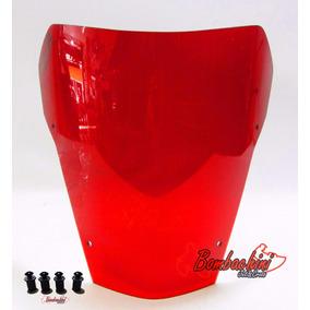 Bolha Xt660 Vermelha C/ Parafusos Xt 660 Acrilico Vermelho
