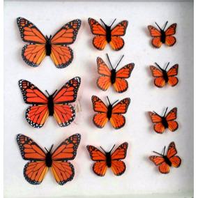 Mariposa Monarca Decorativas Invitaciones Recuerdos 4cms