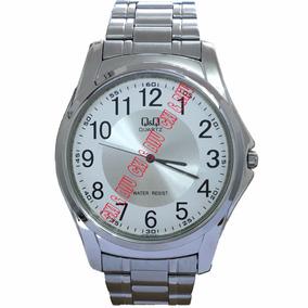 Relógio Masculino Qq Prateado Pulseira De Aço Frete Grátis