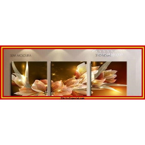 Pinturas Em Tela Flores Abstrato-sem Moldura Ref.021