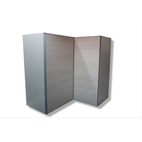 Alacena Esquinera En L De Dos Puertas Perfil Aluminio