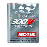 Aceite Motul 300v 15w50 2l 100% Sintético Competición E/t/p
