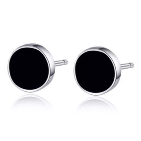 Aretes De Plata .925 Precioso Ónix Negro Para Dama Mujer