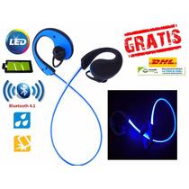 Audifonos Manos Libres Bluetooth Luminosos Led +envio