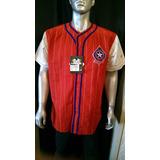 Camisa Roja- Talla L- Marca Mirage- Texas Rangers