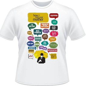 Camiseta How I Met You Mother Ted Robin Barney Camisa Branca