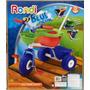 Triciclo Blue/pink Metal Rondi Con Baúl Y Barra De Arrastre