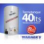 Calefon 40 Lts. Tanque De Cobre 20 Años De Garantia Warner