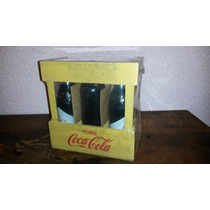 6 Botellas De Coca Cola Llenas En Cajón -réplica Antiguas