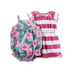 Kit Carters Vestido E Romper Floral - 100% Original