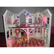 Casa Para Muñeca Barbie Grande Original Mattel