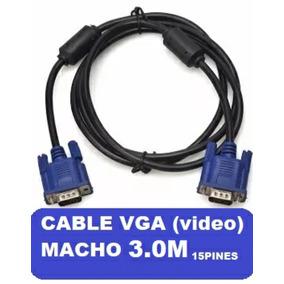 Cable Monitor Vga Macho Macho 3mts