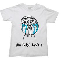 Camiseta Infantil Meme Frase Ou Nome Personalizada A Escolha