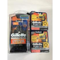 Gillette Fusion Proglide Styler + 4 Cartuchos Proshield