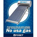 Calentador Solar Foset 10 Tubos 3 Servicios 45270