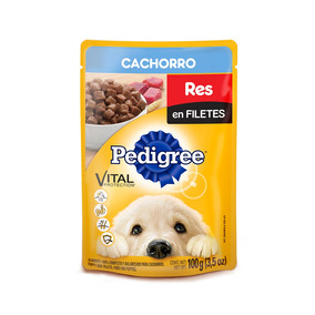 Pedigree Puppy Pouch Sobre Res En Filetes 100gr Alimento