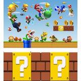 Painel Tecido Sublimado Super Mario 2,5 X 3,0 + 0,6 X 1,5