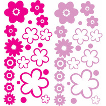 Calcos Vinilos Stickers Flores Decorar Pared Vidrio Auto Mue