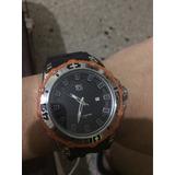 Reloj Yess Original Naranja Y Negro