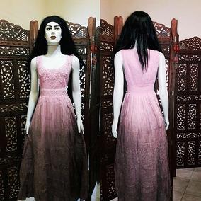 Vestido Longo Tecido Algodão Lese Bordado Festa Tie Dye Luxo