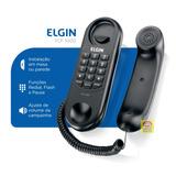 Telefone Com Fio Elgin Tfc 1000 Mesa Ou Parede Gondola Preto