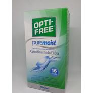 Liquido Optifree Pure Moist 120ml Solución Multipropósito