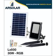 Reflectores Led Solares 30w Rgb