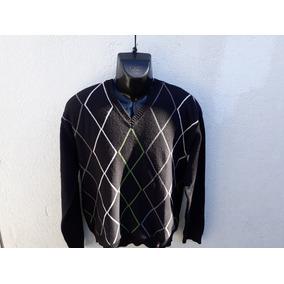 Buzo Cardigan Rusty Sweter Escote V Talle L Leer Medidas