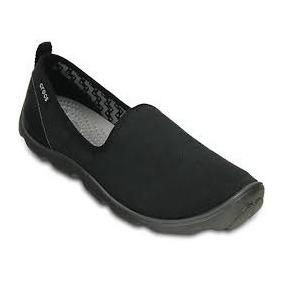 Crocs Mujer Zapatilla Busy Day Skimmer Negro Muy Comodas