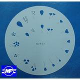 4 Stencil Plantillas Para Uñas Aplicable Con Aerografo
