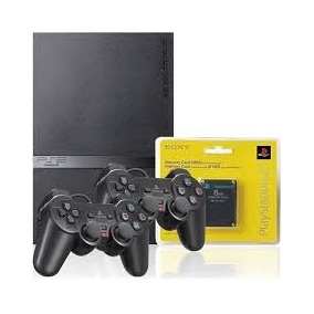 Novo Ps2 Playstation 2 Memory Card 2 Controles + Brindes
