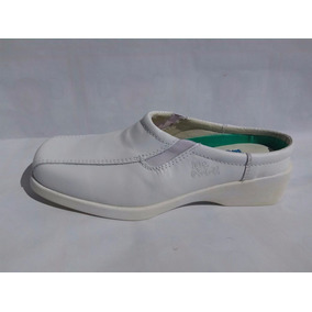 Zapatos Blancos Para Doctor O Enfermera De Piel Modelo 832