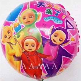 Balão Metalizado Desenho Teletubbies 45x45cm - Kit C/ 5