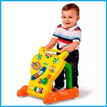 Andador Feliz Infantil Calesita Brinquedo P/ Bebê Amarelo