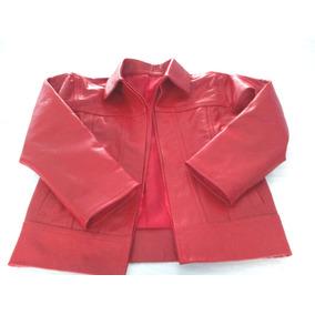 Campera De Cuero Roja