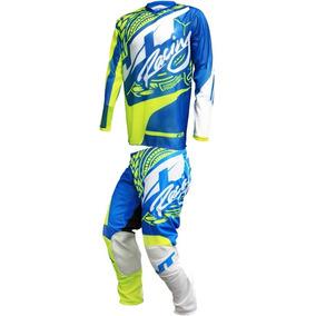 Kit Jt Racing Flex Victory Vented Motocross Enduro Azul