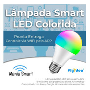 Kit 2x Lâmpada Led Smart Wifi Rgb - (lâmpada Inteligente)