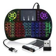 Mini Teclado Led Controle Bluetooth  Para Smart Tv Box