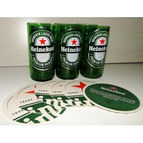 Copos Heineken Artesanais Garrafas L Neck C Porta Copos 6 Pç