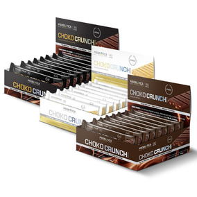Choko Crunch - Chocolate Proteico 12 Unid Probiótica Sabores