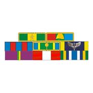 Placa Com 8 Barretas De Medalhas - Fixação Por Imã