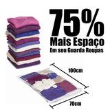 Saco À Vácuo P/ Guarda Roupas Cobertor Malas Viagem 70 X 100