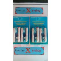 Refil Escova Dente Eletrica Oral B Braun 2cabeca 8 Und Refil